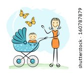 mother and baby | Shutterstock . vector #160787879