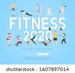 exercises 2020 conceptual...   Shutterstock .eps vector #1607897014