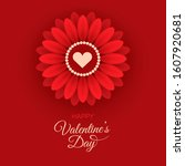 valentine's day greeting card...   Shutterstock .eps vector #1607920681