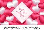 happy valentines day background ... | Shutterstock .eps vector #1607949547