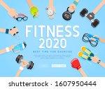 exercises 2020 conceptual... | Shutterstock .eps vector #1607950444