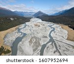 aerial view of the glacial rees ...