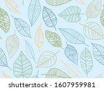 spring themed seamless pattern... | Shutterstock .eps vector #1607959981