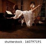 spiritual dream about  the music | Shutterstock . vector #160797191
