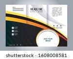 tri fold brochure beauty salon... | Shutterstock .eps vector #1608008581