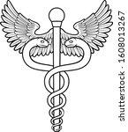 a caduceus  often used as a...   Shutterstock .eps vector #1608013267