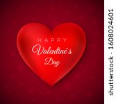 valentines day greeting card.... | Shutterstock .eps vector #1608024601