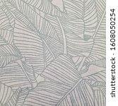 white ceramic tile with tropic...   Shutterstock . vector #1608050254