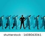 business concept vector... | Shutterstock .eps vector #1608063061