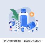 doctor pharmacist in drugstore... | Shutterstock . vector #1608091807