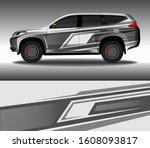 car wrap decal design vector ...   Shutterstock .eps vector #1608093817