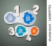 one  two  three  four  vector... | Shutterstock .eps vector #160809701