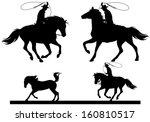 Cowboy Horsemen Fine Vector...