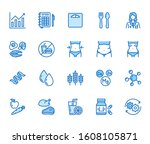 nutritionist flat line icons... | Shutterstock .eps vector #1608105871