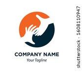 help hand icon vector logo... | Shutterstock .eps vector #1608110947