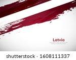 latvia flag made in brush... | Shutterstock .eps vector #1608111337