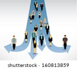 a big group of people finding... | Shutterstock .eps vector #160813859
