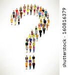 many people with question mark... | Shutterstock .eps vector #160816379