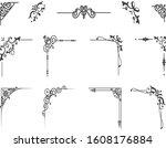 border classic vintage corner...   Shutterstock .eps vector #1608176884