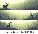 horizontal abstract banners of...   Shutterstock .eps vector #160819109