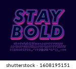 strong bold 3d text effect ...   Shutterstock .eps vector #1608195151