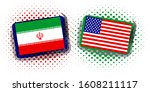 united states and iran... | Shutterstock . vector #1608211117