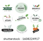 organic label and natural label ... | Shutterstock .eps vector #1608224917