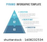 pyramid with three elements and ... | Shutterstock .eps vector #1608232534