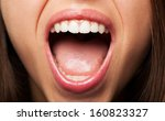 prefect teeth of a pretty girl... | Shutterstock . vector #160823327