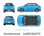 modern compact city car mockup. ...   Shutterstock .eps vector #1608236374