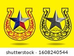texas star with nickname the... | Shutterstock .eps vector #1608240544