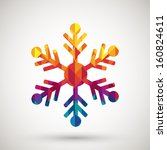 snowflake symbol with colorful... | Shutterstock .eps vector #160824611