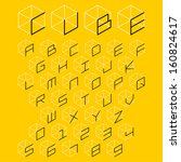 3d cube alphabet and number ...   Shutterstock .eps vector #160824617