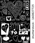 concept love doodles  hand...   Shutterstock . vector #160827725