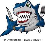illustration of shark  with...   Shutterstock .eps vector #1608348394