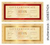 voucher  gift certificate ... | Shutterstock .eps vector #160837424