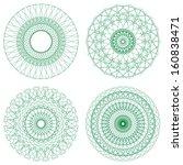 set of green vector guilloche...   Shutterstock .eps vector #160838471