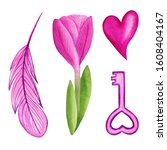 Clipart Heart  Feather  Tulip...