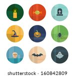 colorful trendy vector icon set.... | Shutterstock .eps vector #160842809