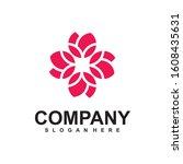 abstract elegant flower logo...