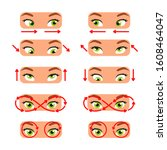 a set of exercises for the eyes.... | Shutterstock .eps vector #1608464047