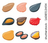mussels icons set. isometric...   Shutterstock .eps vector #1608513454