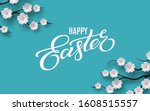 happy easter banner. holiday... | Shutterstock .eps vector #1608515557