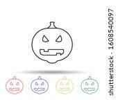 halloween pumpkin multi color...