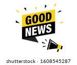 male hand holding megaphone... | Shutterstock .eps vector #1608545287