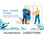 medical drugs delivery at home... | Shutterstock .eps vector #1608574384