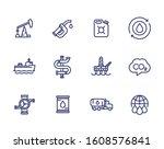 petroleum industry  petrol ... | Shutterstock .eps vector #1608576841