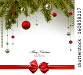 christmas background with fir... | Shutterstock .eps vector #160858217