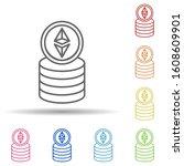 ethereum  coins multi color...