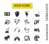 interests icons set with...